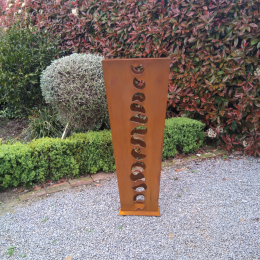 Contemporary corten sculpture
