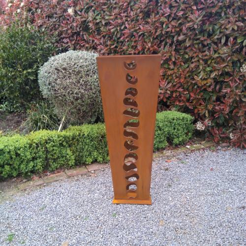 Contemporary corten sculpture
