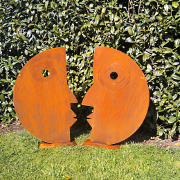 Corten steel couple