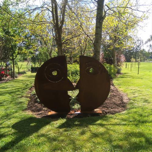 Corten steel couple