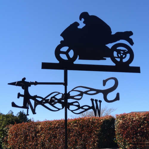 Motorbike Weather Vane